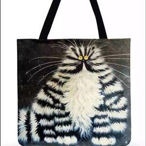 Zebra Kitty Tote Bag